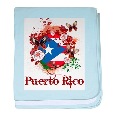 Butterfly Puerto Rico baby blanket