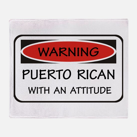 Attitude Puerto Rican Throw Blanket