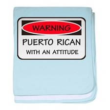 Attitude Puerto Rican baby blanket