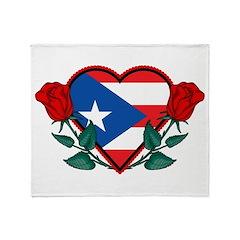 Heart Puerto Rico Throw Blanket