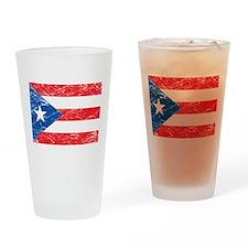 Vintage Puerto Rico Flag Pint Glass