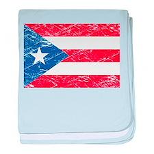 Vintage Puerto Rico Flag baby blanket