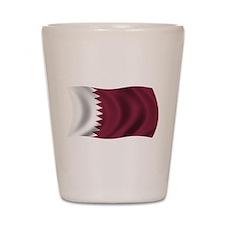 Wavy Qatar Flag Shot Glass