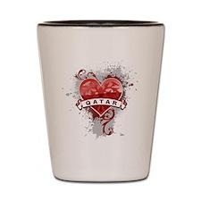 Heart Qatar Shot Glass