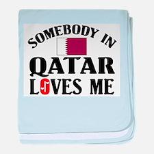Somebody In Qatar baby blanket