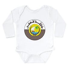 Qatar Coat Of Arms Long Sleeve Infant Bodysuit