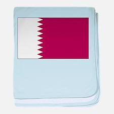 Qatar Flag baby blanket