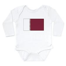 Qatar Flag Long Sleeve Infant Bodysuit