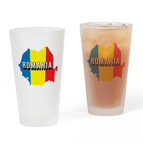 Map Of Romania Pint Glass