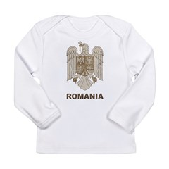 Vintage Romania Long Sleeve Infant T-Shirt