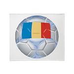 Romania Soccer Throw Blanket