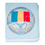 Romania Soccer baby blanket