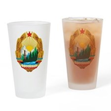 Romania Coat Of Arms 1965 Pint Glass