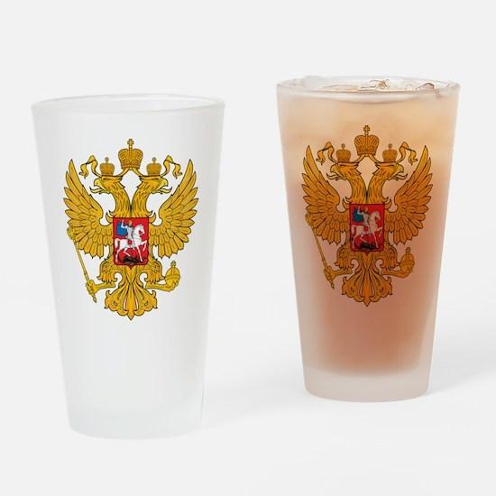 Russia 2 Headed Eagle Pint Glass