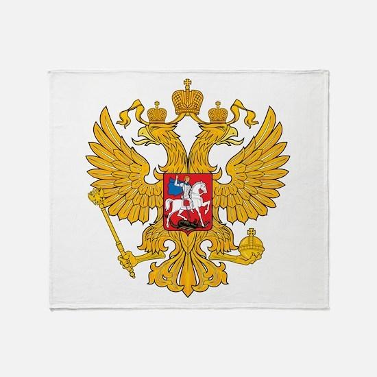 Russia 2 Headed Eagle Throw Blanket