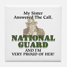 National Guard Sister Tile Coaster
