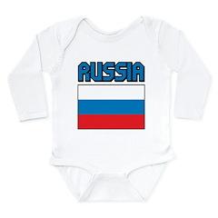 Russia Flag Long Sleeve Infant Bodysuit