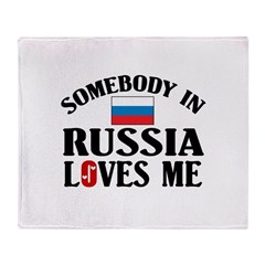 Somebody In Russia Throw Blanket
