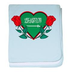 Heart Saudi Arabia baby blanket