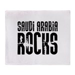Saudi Arabia Rocks Throw Blanket