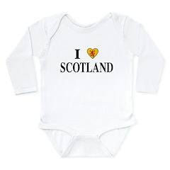 I Love Scotland Long Sleeve Infant Bodysuit