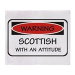 Attitude Scottish Throw Blanket