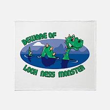 Beware Of Loch Ness Monster Throw Blanket