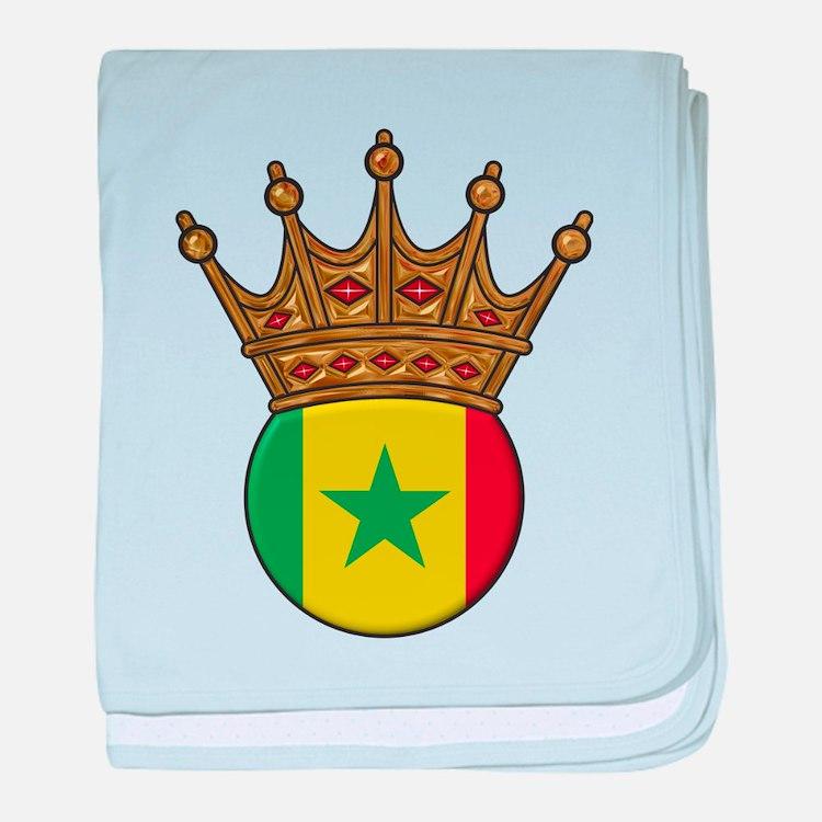 King Of Senegal baby blanket