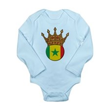 King Of Senegal Long Sleeve Infant Bodysuit