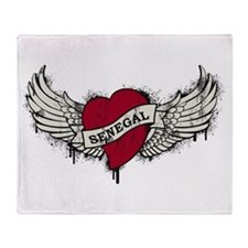 Heart Senegal Throw Blanket
