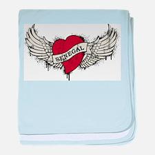 Heart Senegal baby blanket