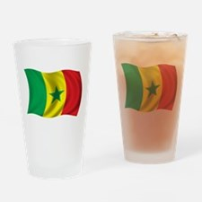 Wavy Senegal Flag Pint Glass