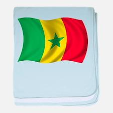 Wavy Senegal Flag baby blanket