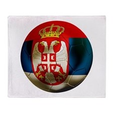 Serbia Football Throw Blanket