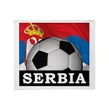 Football Serbia Throw Blanket