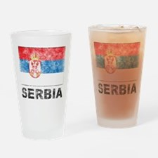 Vintage Serbia Pint Glass