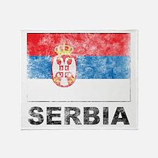 Vintage Serbia Throw Blanket