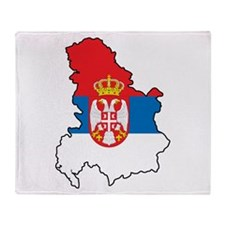Map Of Serbia Throw Blanket