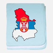 Map Of Serbia baby blanket