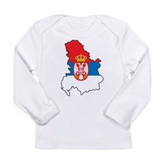 Map Of Serbia Long Sleeve Infant T-Shirt