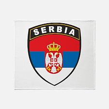 Serbia Throw Blanket