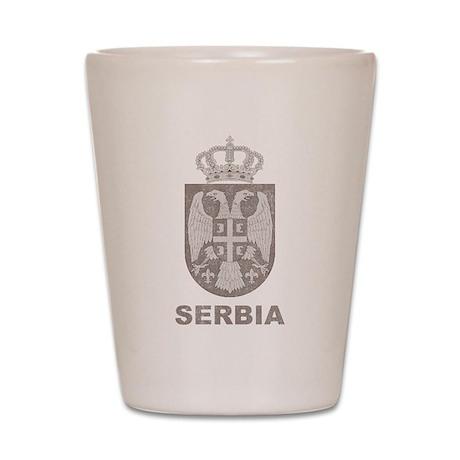 Vintage Serbia Shot Glass