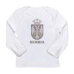 Vintage Serbia Long Sleeve Infant T-Shirt