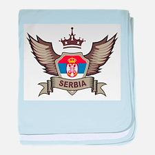 Serbia Emblem baby blanket