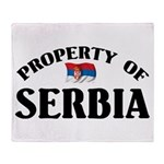 Property Of Serbia Throw Blanket