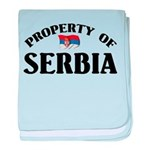 Property Of Serbia baby blanket