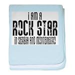 Rock Star In Serbia baby blanket