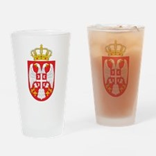Serbia Coat Of Arms Pint Glass
