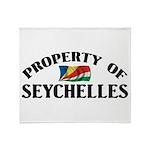 Property Of Seychelles Throw Blanket