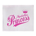 Seychellois Princess Throw Blanket